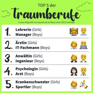 Traumberuf Top 5 Stuzubi Infografik