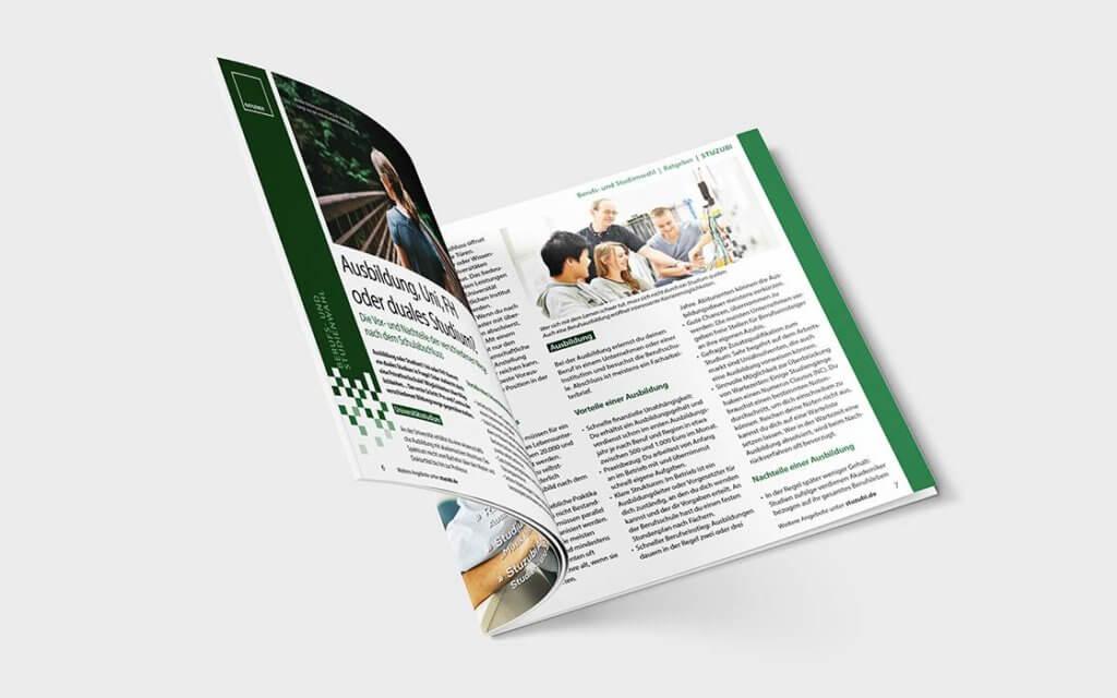 Studien- und Ausbildungsangebote im E-Paper © Stuzubi