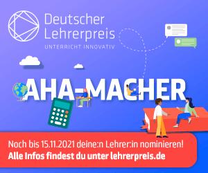 Deutscher Lehrerpreis - JETZT MITMACHEN!