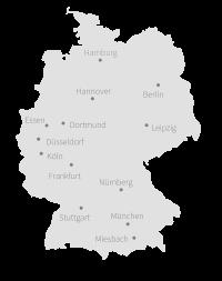 Stuzubi bietet Studien- und Ausbildungsmessen an 13 Standorten Deutschlands: München, Essen, Stuttgart, Hannover, Köln, Miesbach, Berlin, Hamburg, Düsseldorf, Dortmund, Nürnberg, Frankfurt, Leipzig